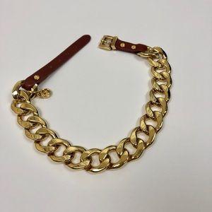 "Michael Kors Gold Chain Link Wrap Bracelet 17"""